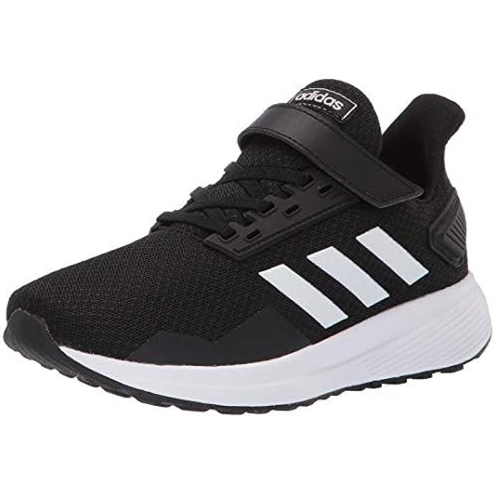 adidas unisex child Duramo 9 Running Shoe, Black/White/Black, 3 Little Kid US