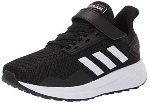 adidas Kids Unisex's Duramo 9 Running Shoe, black/white/black, 3 M US Little Kid