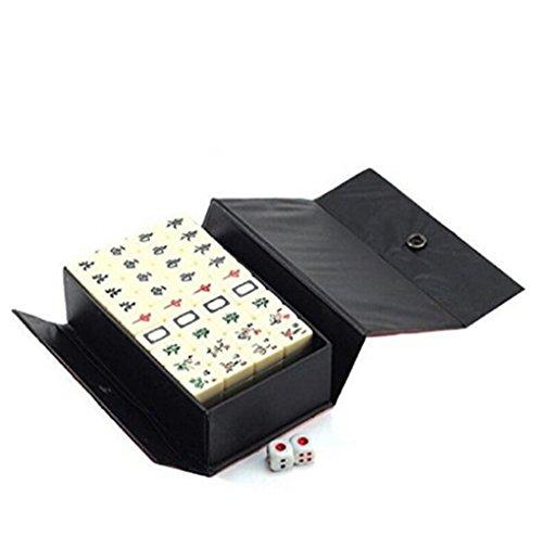 (イスイ)YISHUI ミニ 144 麻雀 タイル セット 旅行 ボード ゲーム中国 伝統的 麻雀ゲーム携帯サイズ 専用ケース入り