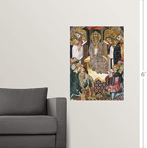 Amazon.com: CANVAS ON DEMAND Lluis Borrassa Wall Peel Wall ...