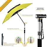 BESROY Portable Sun Beach Umbrella,Carbon Fiber Umbrella Rod,New Black Glue,Anti Ultraviolet,Quick Installation,360° Arbitrary Rotating,Used in Beaches, Pools, terraces, Parks, Tours (Green Ultimate)