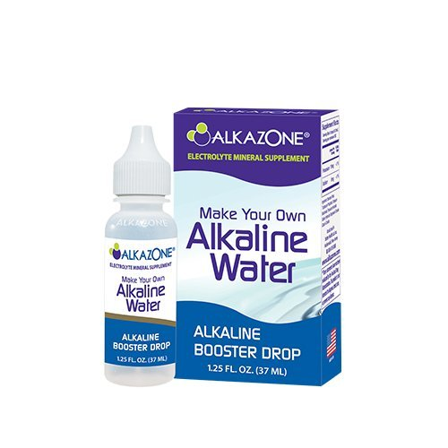 Best Alkazone Make Your Own Alkaline Water | 1 Pack Makes 20 Gallon of Alkaline Water | Alkaline Booster Drop | Single Pack 1.25 Oz |