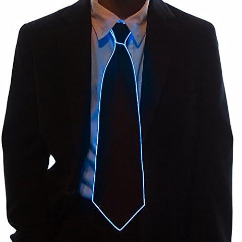 Neon Nightlife Light Up Neck Tie for Boys, Blue - Kids Necktie