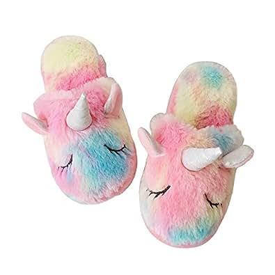 Zapatilla Unicornio Animal algodón para Mujer/Chica Helado EU 35/38