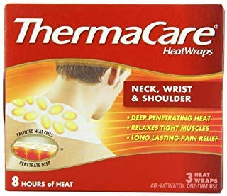 ThermaCare Air-Activated Heatwraps, Neck, Wrist & Shoulder, Pack of 6 (3 Heatwraps Per Pack) by ThermaCare