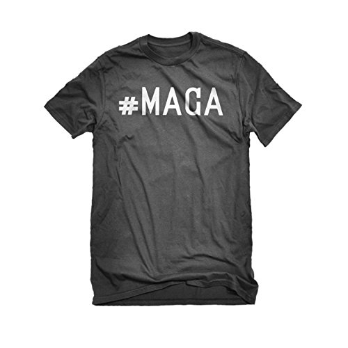Womens #MAGA T-Shirt Charcoal Grey X-Large ()