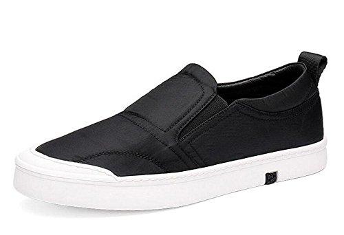 Männer Slip-On Oxford Casual Herren Schuhe Sommer Breathable Board Schuhe Korean Version der flachen Schuhe Casual Schuhe , black , 44