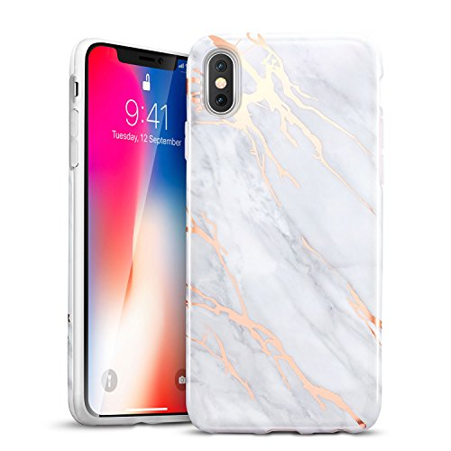 iPhone X Case, iPhone X Marble Case, ESR Slim Soft Flexible TPU Marble Pattern Cover for Apple iPhone X (2017 Release)(Grey Gold Sierra)