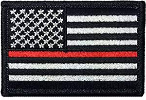Tactical USA Flag Law Enforcement Thin RED