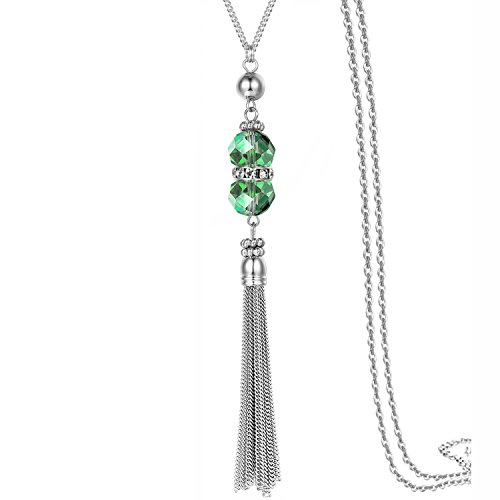 Tassel Y Lariat Necklace Long Drop Snake Chain Neck Pendant Trendy Bohemian Turkish for Girls