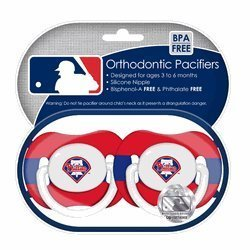 Philadelphia Phillies Pacifiers 2 Pack Safe BPA Free by Baby - Mall Philly Shopping
