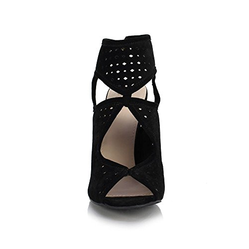 Size 10 Barely Heels There LUNA Ladies Stiletto Sandals Out Cut Sole Toe US Up 8 Lace Peep Affair Black 41 Shoes Women's UK EU av6PfpqBw