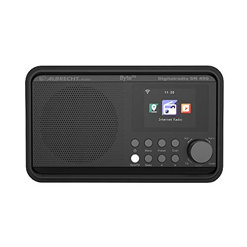 Albrecht DR490 ByteFM, internet/DAB+/FM-radio met kleurendisplay, 27492, radio-besturing via smartphone-app, ByteFM…