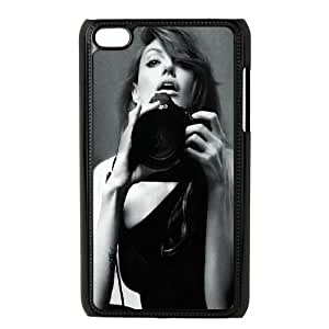 Celebrities Angelina Jolie Black And White iPod Touch 4 Case Black DIY GIFT pp001_8043592