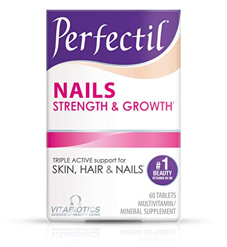 Vitabiotics Perfectil Nail Multivitamin to Support Nail Strength & Growth | Extra Selenium, Copper and Over 20 Micronutrients, Vegetarian Safe (60 Tablets)
