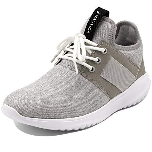 Nautica Women Fashion Sneaker Lace-Up Jogger Running Shoe-Primage Heather-Grey-10