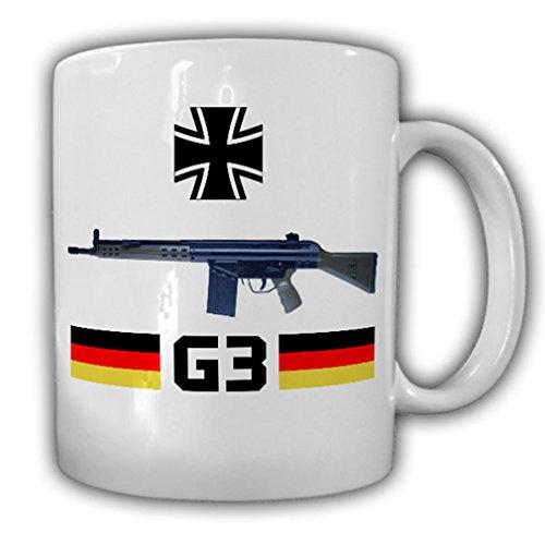 G3 assault rifle Bundeswehr rifle weapon military decoration 7.62 mm × 51 Germany basic training AGA blunderbuss - Coffee Cup Mug