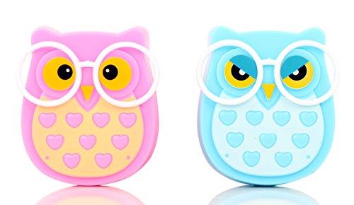 1 Pair-LED Plug-in Night Light for Kids - Light Sensor Controlled Nightlights for Baby Nursing - Owl shaped Lamp Take Good Care Children Sleep