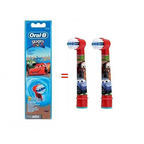 (Braun Oral-b Eb10 Stages Power Replacement Brush Heads 2ea [ Disney Cars ])