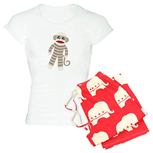 CafePress Sock Monkey Womens Novelty Cotton Pajama Set, Comfortable PJ Sleepwear ()