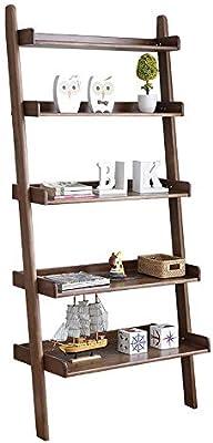 Librería con Estantes Abiertos Escalera de validez 5 Nivel rústica estantería estante de libro del estante de escalera inclinada Display Oficina Shelf (Brown) Oficina Muebles de la Sala de estar: Amazon.es: Hogar