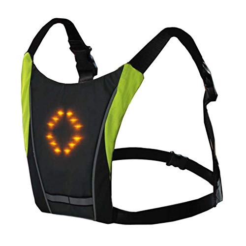 (CHLZYD Cycling Bicycle LED Wireless Safety Turn Signal Light Vest Riding Night Guiding)