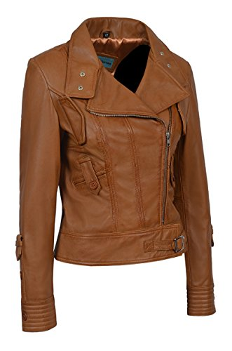 Biker Range 4110 Mujer Broncearse Supermodel Real De Chaqueta Italiano Nappa Smart Diseñador Cuero Estilo xRqw1TSSY