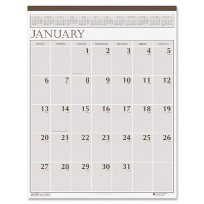 House of Doolittle 380 Large Print Monthly Wall Calendar in Punched Leatherette Binding, 20 x 26, 2018