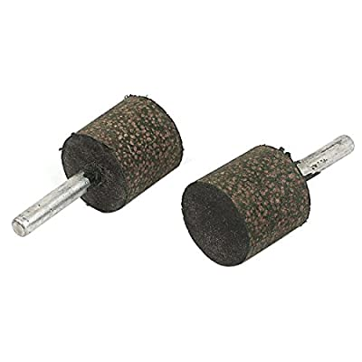 uxcell 6mm Dia Shank 25mm Cylinder Rubber Mounted Point Grinding Bits 2pcs