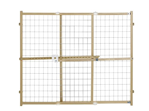 North States Quick-Fit Wire Mesh Pet/Baby Gate for Wide Openings | 4665 (2 (Wide Wire Mesh Gate)