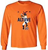 "The Silo LONG SLEEVE ORANGE Jose Altuve Houston ""AIR HR"" T-Shirt"