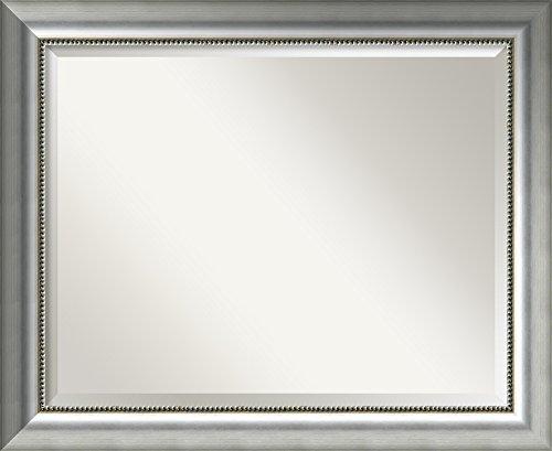 Las Vegas Wood - Amanti Art Framed Vegas Silver Solid Wood Wall Mirrors, Glass Size 28x22,