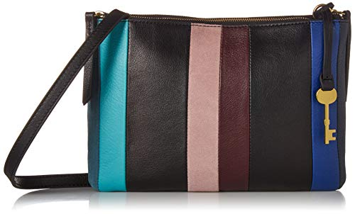 (Fossil Devon Crossbody Blue Multi Stripe, One Size)