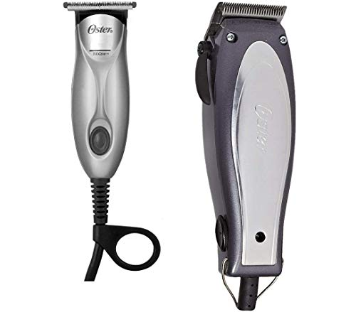 - Oster 76380-710 Combo Cool Vibes Adjustable Clipper & Teqie Trimmer with Combs, Oil etc.