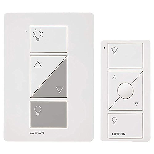 Lutron P-PKG1P-WH-R 120V White Smart Lighting Lamp Dimmer and Remote Kit