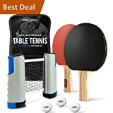 PRO-SPIN Portable Ping Pong Set - Includes Ping-Pong Net for Any Table, 2 Paddles/Rackets, 3-Star Balls, Premium Storage Case | High-Performance Table Tennis Set with Retractable Ping Pong Net