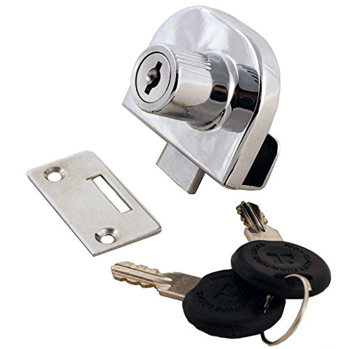 Keyed Showcase Lock - Gordon Glass Showcase Display Cabinet Glass Door Lock for Double Glass Door - Keyed Alike