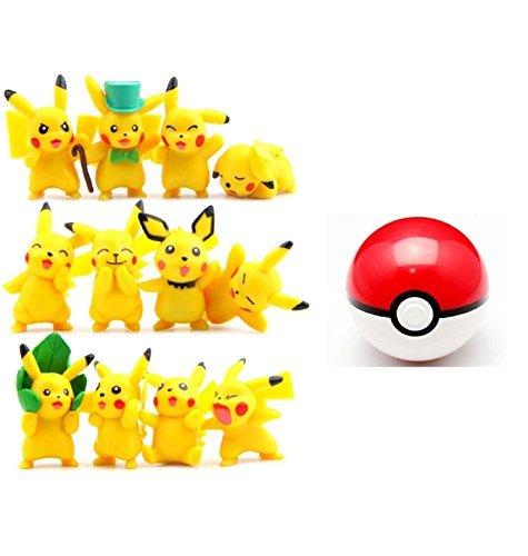 Pokemon Pokeball with 1 Random Pikachu Figure! Perfect for Birthday Gift or Pokemon Fan! (Pokemon Fans)