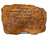 Kay Berry Wherever a Beautiful Soul has Been There is a Trail of Beautiful Memories; Memorial Stone Sympathy Gift; Sandstone 10x15; with Stand