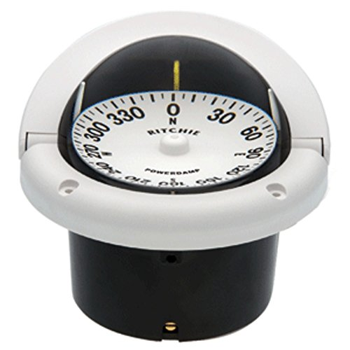Ritchie HF-742W Helmsman Compass - Flush Mount - White Marine , Boating (Helmsman Flush)