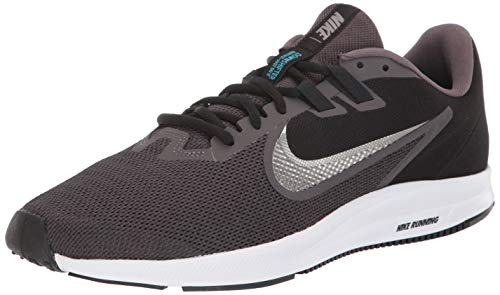 Nike Men's Downshifter 9 Sneaker thunder grey/metallic pewter - Black 8.5 Regular US