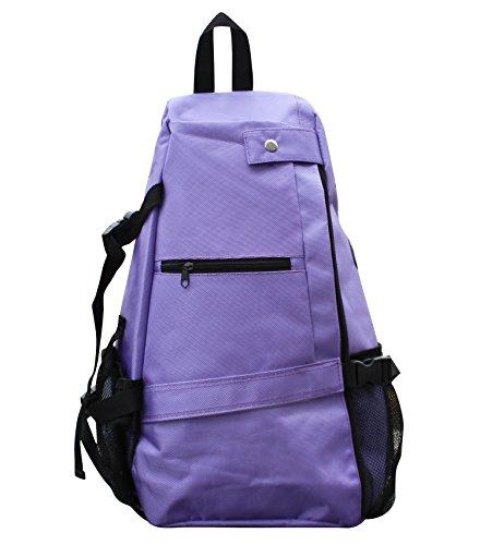 Yoga Mat Bag, Crossbody Sling Backpack Bag, Multi-Functional Storage Pockets, Gym Travel Hiking Biking, Women Men (Purple) For Sale