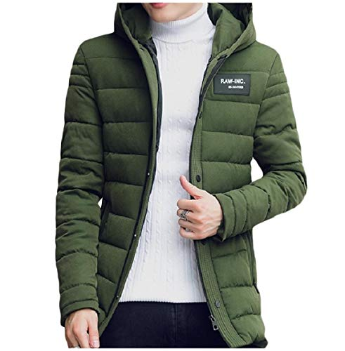 Jacket Up Casual Coat Long Green Cozy Howme Hoodie Army Plus Men Zip Mid Size wxfZpqv