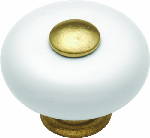 Hickory Hardware P222-LP 1-1/4-Inch Tranquility Cabinet Knob, Lancaster Hand Polished (White Mushroom Knobs Country)