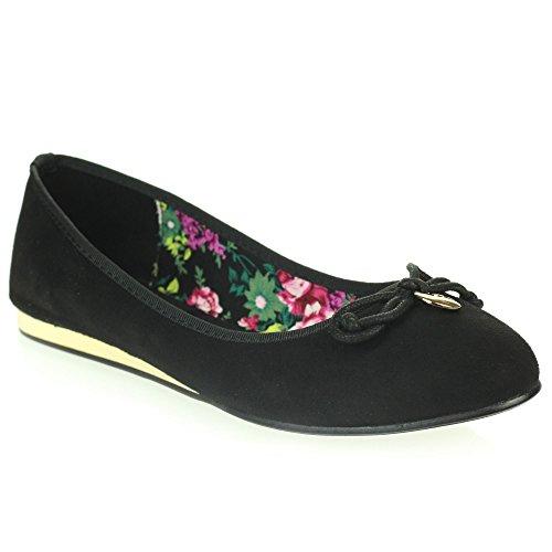 Comfort Flache Damen Ballerinas Slip Schwarz Schuhe on Casual Größe Everyday Damen Ballerinas qSTySaU6