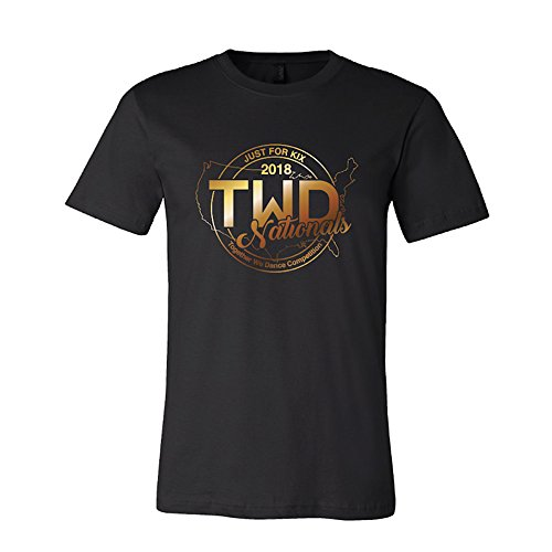 Just For Kix Womens TWD National Gold Foil T-Shirt for sale  Delivered anywhere in USA