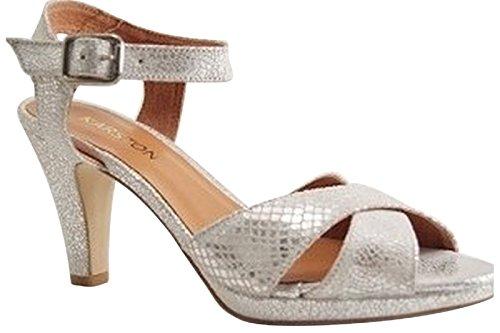 Karston - Zapatos de vestir para mujer Platino
