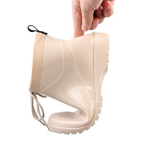 Amérique chaudes Mme Pvc pluie Europe Chaussures Beige mode pluie Bottes et de de wRq0XRPS