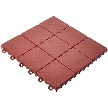 Patio Floor Tiles old chicago antique brick floor tile 12 Piece Patio Walkway Pavers 11 34 X 11 34 Set