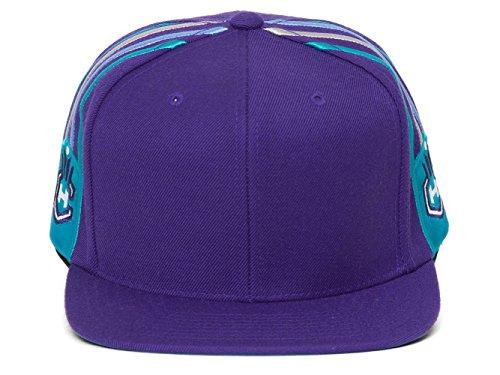 Mitchell & Ness Charlotte Hornets Blank Front Short Hook Snapback